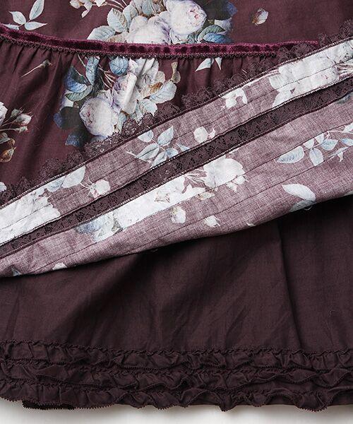 PINK HOUSE / ピンクハウス ロング・マキシ丈スカート | ルドゥーテ ブーケ柄スカート | 詳細6