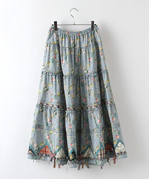PINK HOUSE / ピンクハウス ロング・マキシ丈スカート | ルドゥーテ 小バラ柄スカート | 詳細3