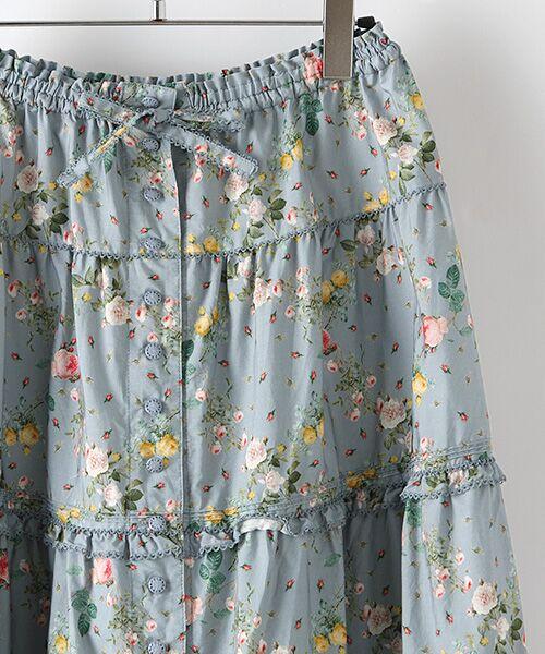PINK HOUSE / ピンクハウス ロング・マキシ丈スカート | ルドゥーテ 小バラ柄スカート | 詳細4