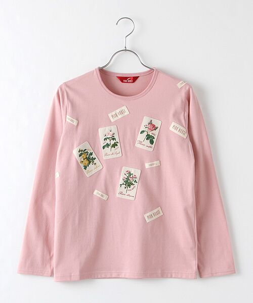 PINK HOUSE / ピンクハウス カットソー | ルドゥーテ ワッペン使いカットソー(ピンク)