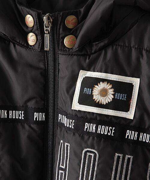 PINK HOUSE / ピンクハウス ブルゾン | ロゴ&ネームワッペン使い中綿ブルゾン | 詳細6