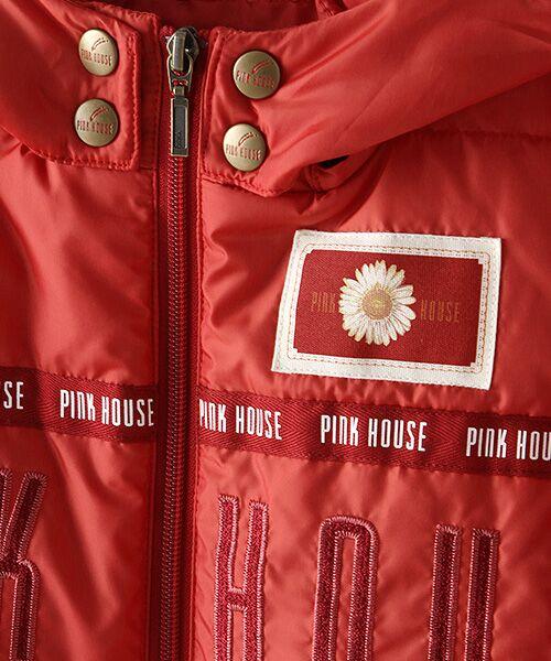 PINK HOUSE / ピンクハウス ブルゾン | ロゴ&ネームワッペン使い中綿ブルゾン | 詳細9