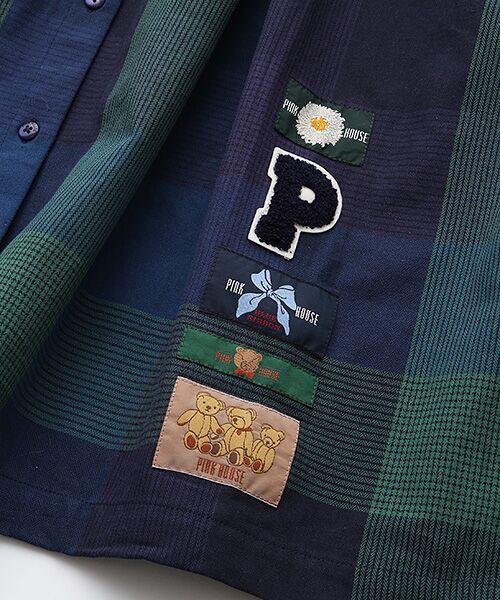 PINK HOUSE / ピンクハウス ロング・マキシ丈ワンピース   ワッペン使いチェックワンピース   詳細7