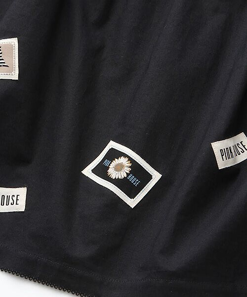 PINK HOUSE / ピンクハウス ロング・マキシ丈ワンピース | ネームワッペン使いワンピース | 詳細1