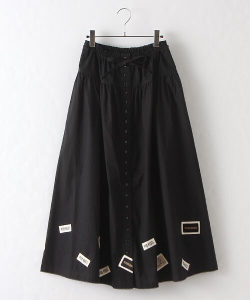 PINK HOUSE / ピンクハウス ロング・マキシ丈スカート   ネームワッペン使いスカート(クロ)