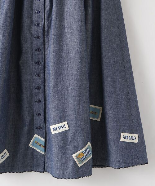 PINK HOUSE / ピンクハウス ロング・マキシ丈スカート   ネームワッペン使いスカート   詳細5