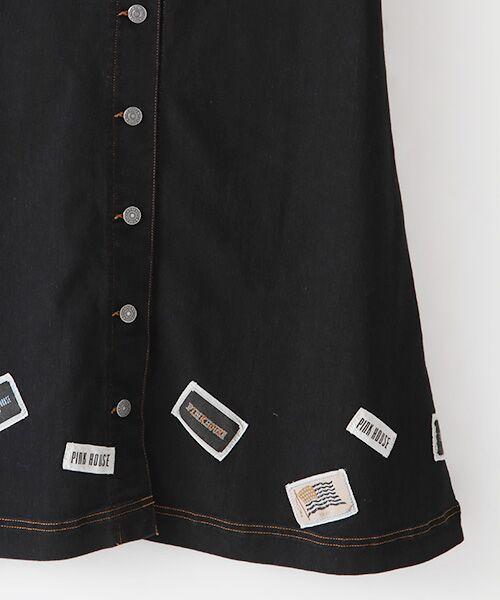 PINK HOUSE / ピンクハウス デニムスカート | ネームワッペン使いデニムスカート | 詳細4