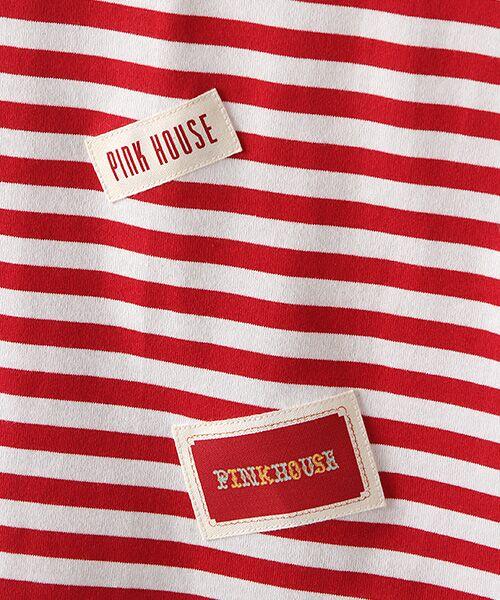 PINK HOUSE / ピンクハウス カットソー | ネームワッペン&ロゴプリントカットソー | 詳細5