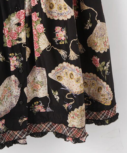 PINK HOUSE / ピンクハウス ロング・マキシ丈スカート   ヴィクトリアン ファンプリントスカート   詳細4