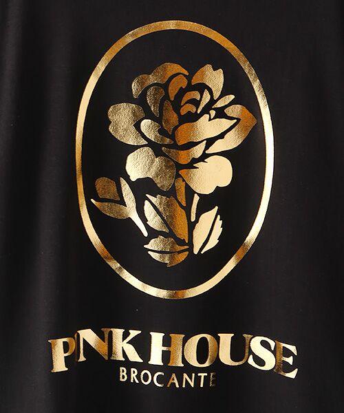 PINK HOUSE / ピンクハウス スウェット | ローズ箔プリントスウェット | 詳細1