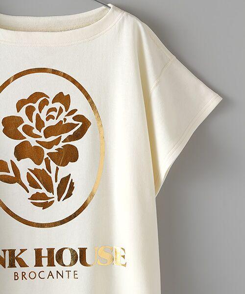 PINK HOUSE / ピンクハウス スウェット | ローズ箔プリントスウェット | 詳細3