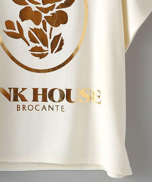 PINK HOUSE / ピンクハウス スウェット | ローズ箔プリントスウェット | 詳細4
