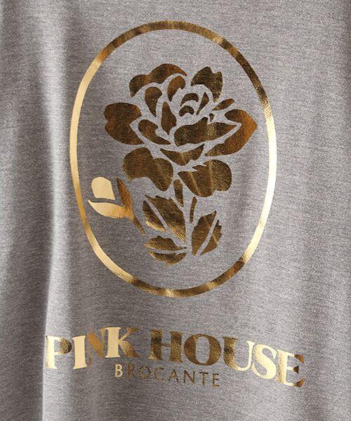 PINK HOUSE / ピンクハウス スウェット | ローズ箔プリントスウェット | 詳細6
