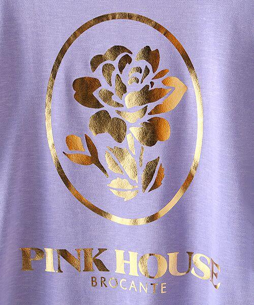 PINK HOUSE / ピンクハウス スウェット | ローズ箔プリントスウェット | 詳細7