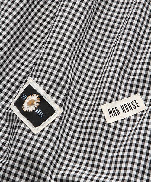 PINK HOUSE / ピンクハウス ロング・マキシ丈ワンピース | ネームワッペン使いギンガムチェックワンピース | 詳細1