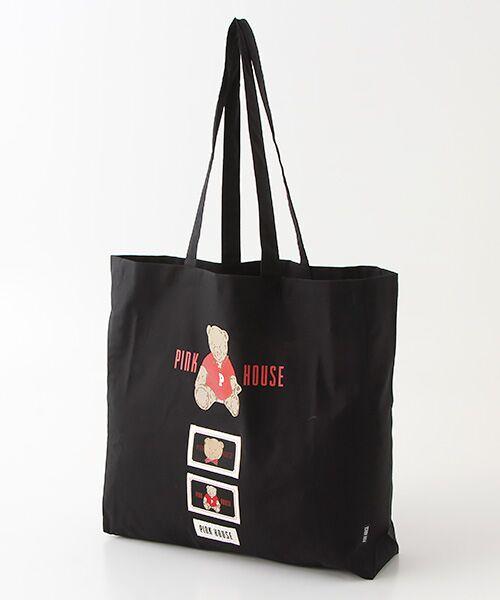 PINK HOUSE / ピンクハウス トートバッグ | 【オンライン先行販売】オールドベアプリントトートバッグ(クロ)
