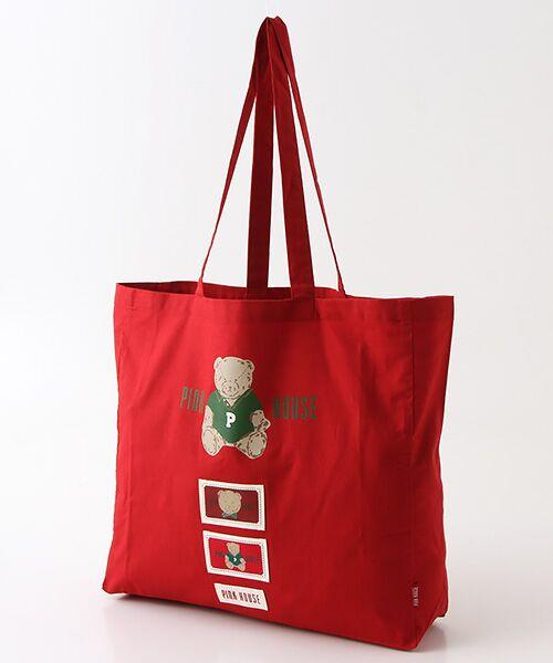 PINK HOUSE / ピンクハウス トートバッグ | 【オンライン先行販売】オールドベアプリントトートバッグ(アカ)