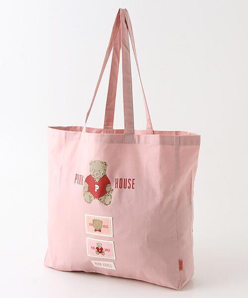 PINK HOUSE / ピンクハウス トートバッグ | 【オンライン先行販売】オールドベアプリントトートバッグ(ピンク)