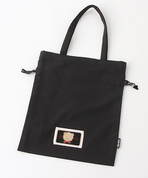 PINK HOUSE / ピンクハウス トートバッグ | 【アウトレット】【オンライン先行販売】オールドベアプリント巾着バッグ | 詳細1