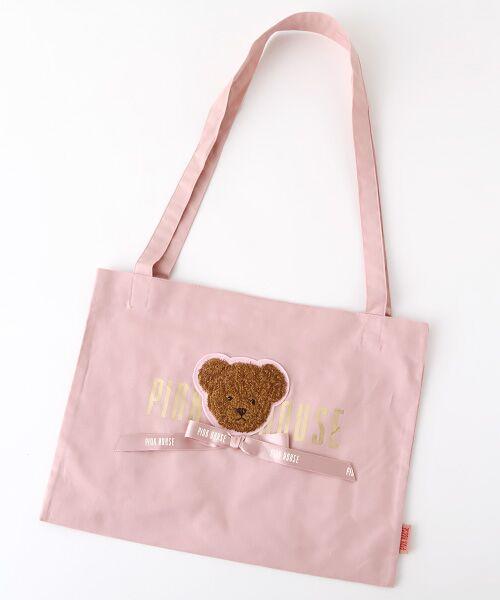 【PINK HOUSE×misako&erinko】テディアップリケミニトートバッグ