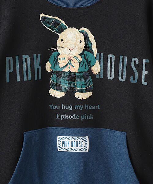 PINK HOUSE / ピンクハウス スウェット | タータンうさぎプリントトレーナー | 詳細1