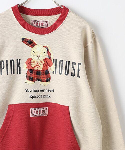 PINK HOUSE / ピンクハウス スウェット | タータンうさぎプリントトレーナー | 詳細3