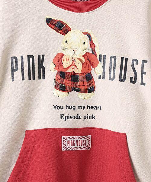 PINK HOUSE / ピンクハウス スウェット | タータンうさぎプリントトレーナー | 詳細5