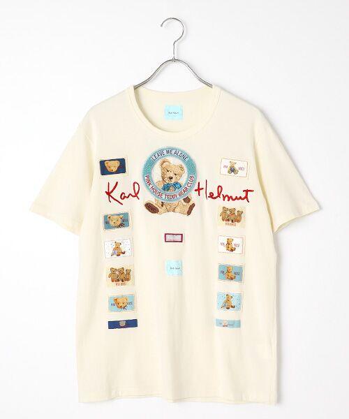 PINK HOUSE / ピンクハウス Tシャツ | テディベアクラブTシャツ(キナリ)