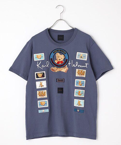 PINK HOUSE / ピンクハウス Tシャツ | テディベアクラブTシャツ(ブルーベリー)