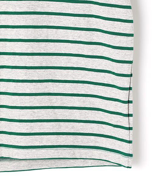 PINK HOUSE / ピンクハウス Tシャツ | エンジェルローズ刺繍ボーダーTシャツ | 詳細4
