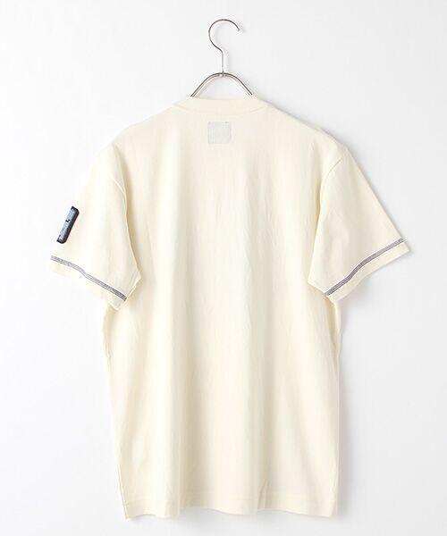 PINK HOUSE / ピンクハウス Tシャツ | ヒッコリーワッペン付きロゴTシャツ | 詳細2