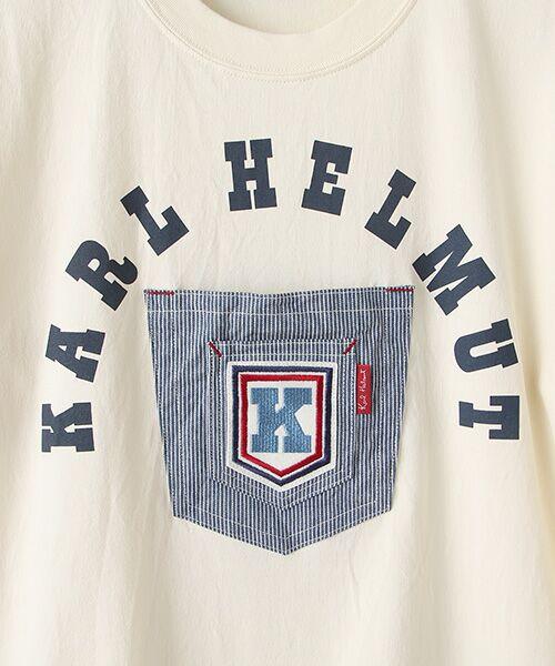 PINK HOUSE / ピンクハウス Tシャツ | ヒッコリーワッペン付きロゴTシャツ | 詳細6
