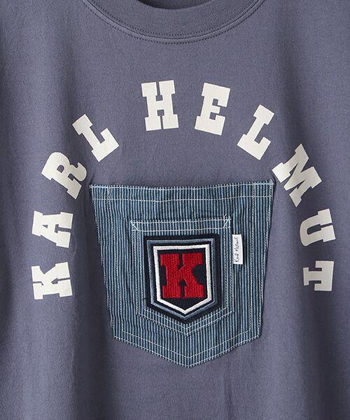 PINK HOUSE / ピンクハウス Tシャツ | ヒッコリーワッペン付きロゴTシャツ | 詳細7