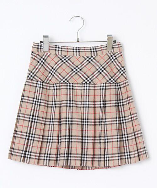 チェック柄プリーツスカート
