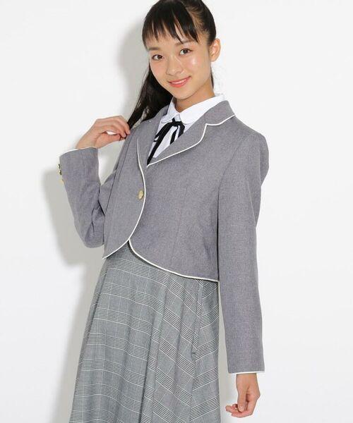 PINK-latte / ピンク ラテ テーラードジャケット   【卒服】パイピンクボレロジャケット   詳細10