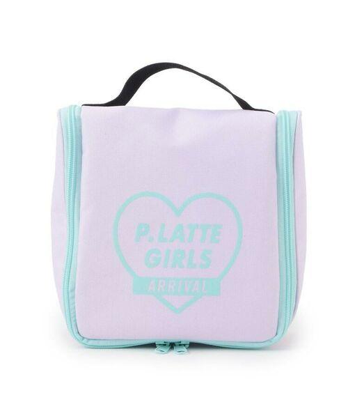 PINK-latte/ピンク ラテ ロゴ入りトラベルポーチ ライトパープル(081) 00