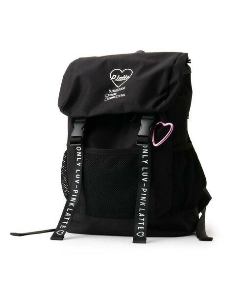 PINK-latte/ピンク ラテ フラップ付きメッシュポケットリュック ブラック(019) 00
