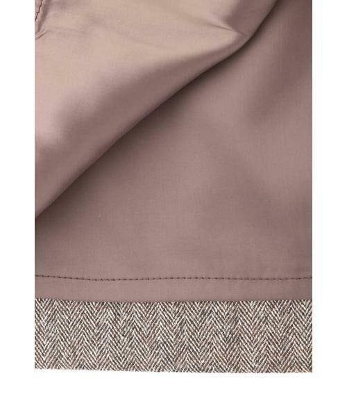 PINKY & DIANNE / ピンキーアンドダイアン スカート | ◆ウールヘリンボーンビットアクセントスカート | 詳細3