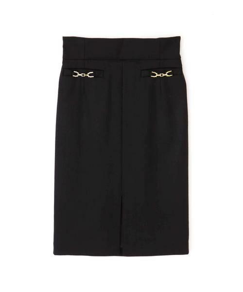 PINKY & DIANNE / ピンキーアンドダイアン スカート | ◆ウールヘリンボーンビットアクセントスカート | 詳細5