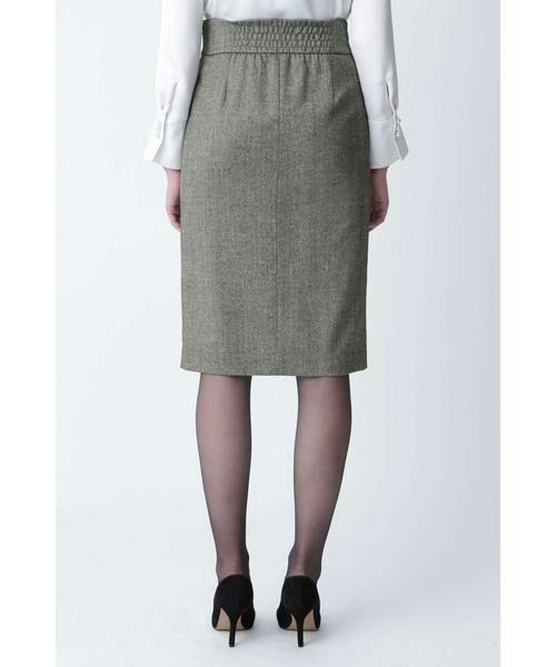PINKY & DIANNE / ピンキーアンドダイアン スカート | ◆ウールヘリンボーンビットアクセントスカート | 詳細12