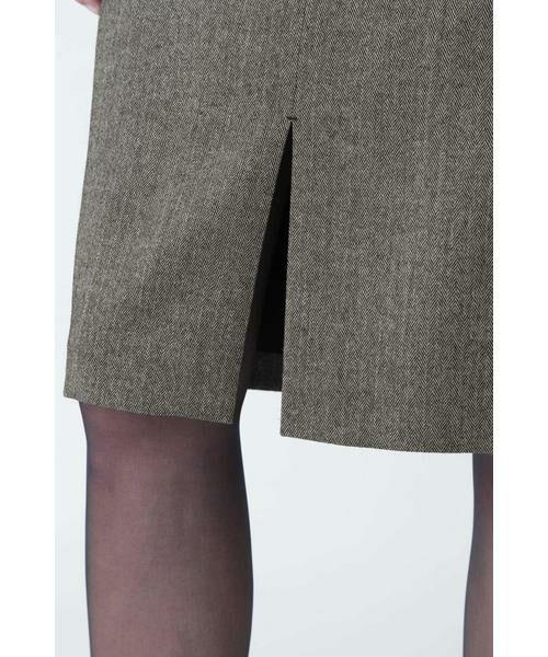 PINKY & DIANNE / ピンキーアンドダイアン スカート | ◆ウールヘリンボーンビットアクセントスカート | 詳細15