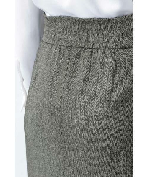 PINKY & DIANNE / ピンキーアンドダイアン スカート | ◆ウールヘリンボーンビットアクセントスカート | 詳細16