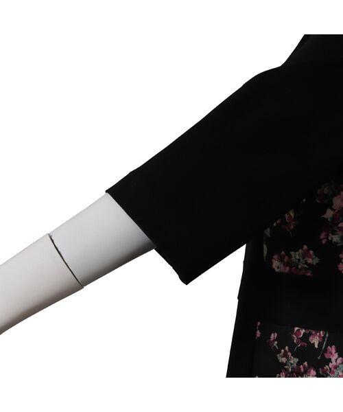 PISANO / ピサーノ ミニ丈・ひざ丈ワンピース   ブーケジャカード切替ワンピース   詳細8