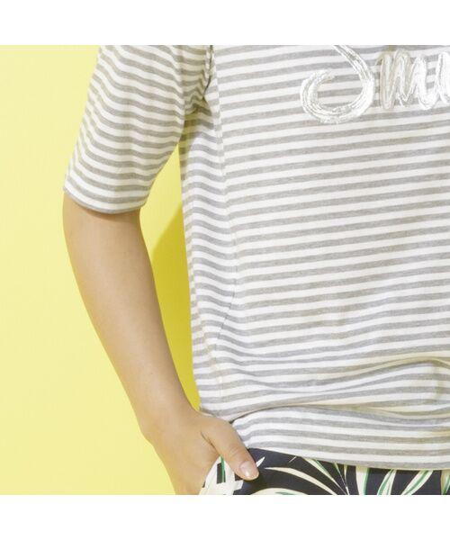 PISANO / ピサーノ カットソー | スマイルロゴ・プリントTシャツ | 詳細2
