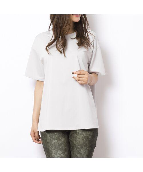 PISANO / ピサーノ カットソー | ソルシールド・フレアラインTシャツ(ライトグレー)