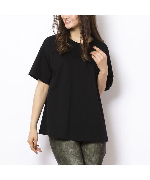 PISANO / ピサーノ カットソー | ソルシールド・フレアラインTシャツ(ブラック)