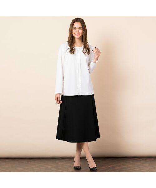 PISANO / ピサーノ カットソー | [大きいサイズ/L-LL]配色ステッチデザインブラウス風Tシャツ | 詳細3
