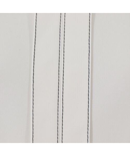 PISANO / ピサーノ カットソー | [大きいサイズ/L-LL]配色ステッチデザインブラウス風Tシャツ | 詳細9