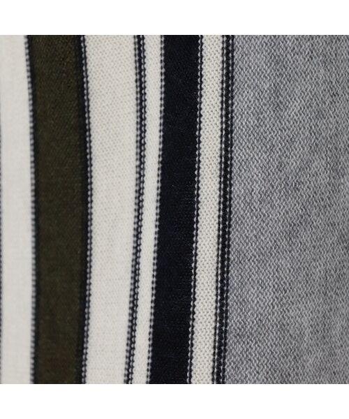 PISANO / ピサーノ ニット・セーター | ストライプフレアラインニットプルオーバー | 詳細4