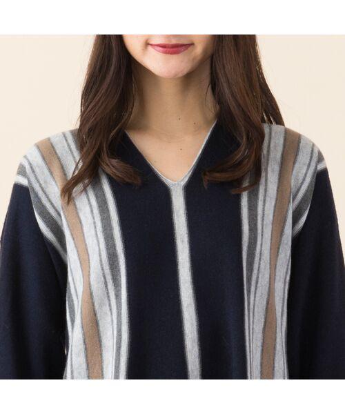 PISANO / ピサーノ ニット・セーター | ストライプフレアラインニットプルオーバー | 詳細8